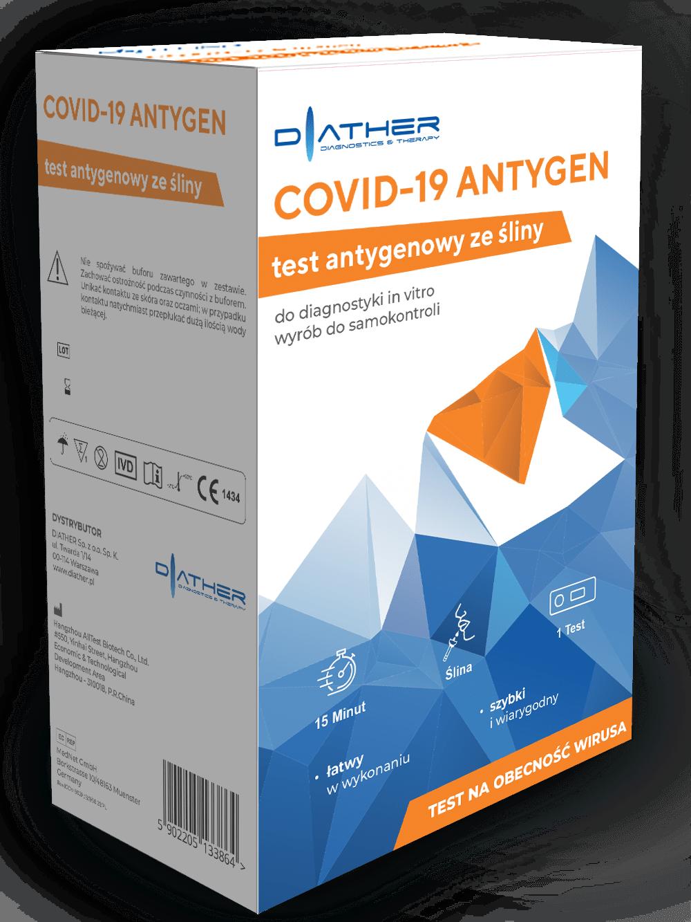 TEST COVID-19 ANTYGEN szybki test (ślina)
